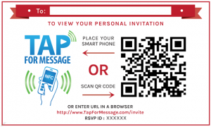 Video Invitation Sticker with NFC Chip